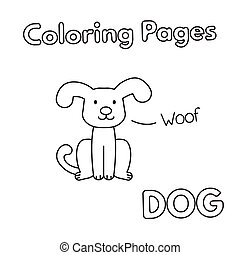 Cartoon Dog Coloring Book