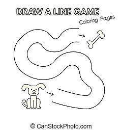Cartoon Dog Coloring Book Game for Kids