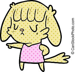 cartoon dog girl pointing