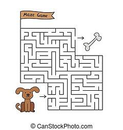 Cartoon Dog Maze Game