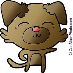 cartoon dog pointing
