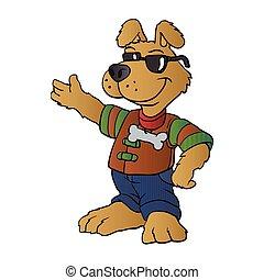 cartoon dog repair man