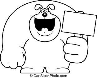 Cartoon Dog Sign