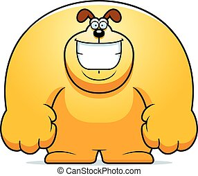 Cartoon Dog Smiling