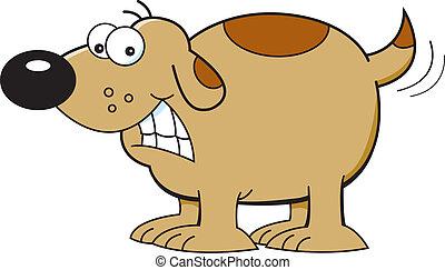 Cartoon Dog Wagging Tail