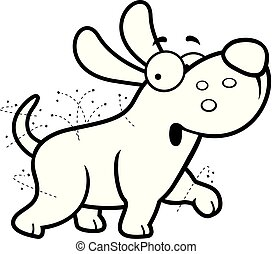 Cartoon Dog With Fleas