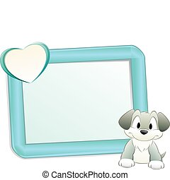 Cartoon Dog with Frame