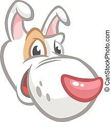 Cartoon doggy head vector illustration