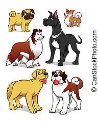 Cartoon dogs