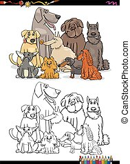 cartoon dogs coloring book