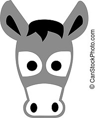 Cartoon donkey head