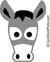 Cartoon donkey head