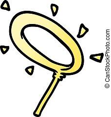 cartoon doodle angel halo
