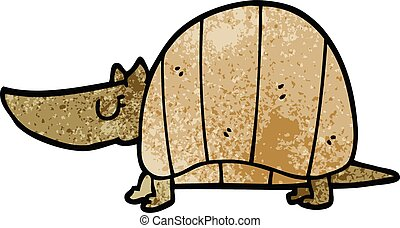 cartoon doodle armadillo