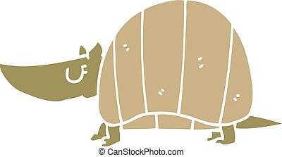 cartoon doodle armadillo