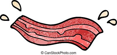 cartoon doodle bacon