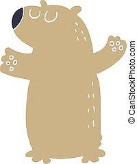 cartoon doodle bear standing