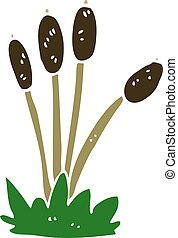 cartoon doodle bed of reeds