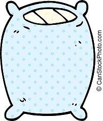 cartoon doodle bedtime pillow
