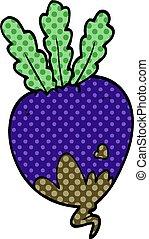 cartoon doodle beet root