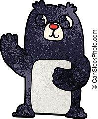 cartoon doodle black bear