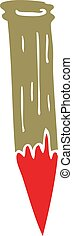 cartoon doodle bloody vampire stake