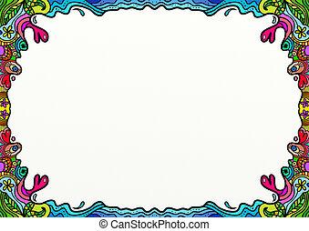 Cartoon Doodle Border Decoration