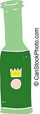 cartoon doodle bottle of pop