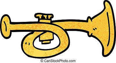 cartoon doodle brass horn