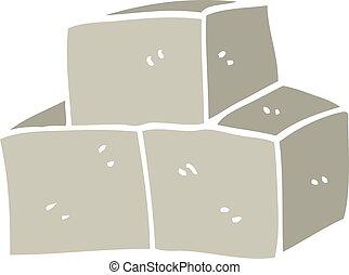 cartoon doodle breeze blocks
