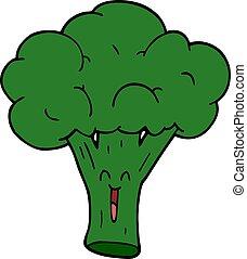cartoon doodle broccoli