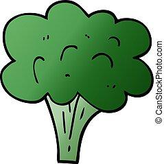 cartoon doodle broccoli stalk