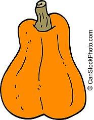cartoon doodle butternut squash