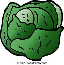 cartoon doodle cabbage