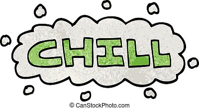 cartoon doodle chill sign