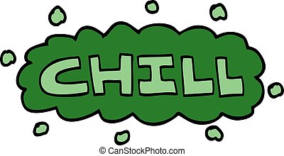 cartoon doodle chill symbol