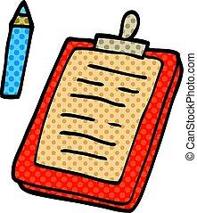 cartoon doodle clip board