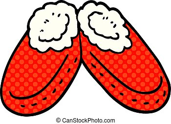 cartoon doodle comfy slippers
