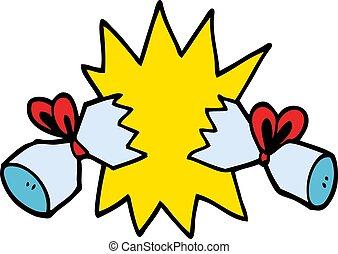 cartoon doodle cracker