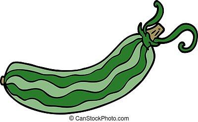 cartoon doodle cucumber