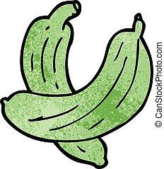 cartoon doodle cucumber plant