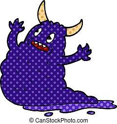 cartoon doodle demon