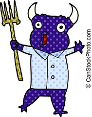 cartoon doodle demon monster