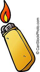 cartoon doodle disposable lighter