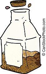 cartoon doodle drink in decanter