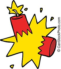 cartoon doodle dynamite