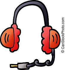 cartoon doodle ear phones