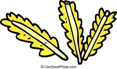 cartoon doodle ears of corn
