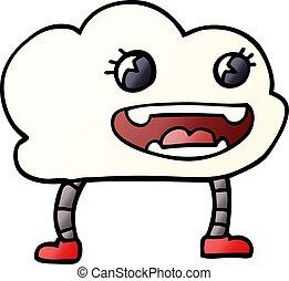 cartoon doodle expressive weather cloud