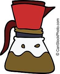 cartoon doodle filter coffee